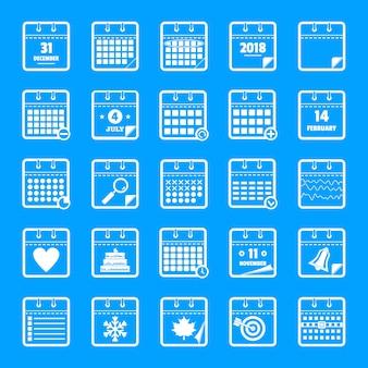 Kalenderikonen eingestellt, einfache art