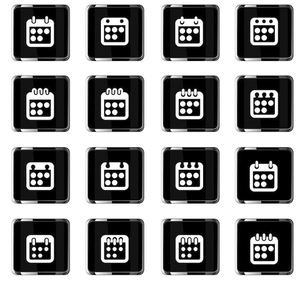 Kalendervektorsymbole für das design der benutzeroberfläche