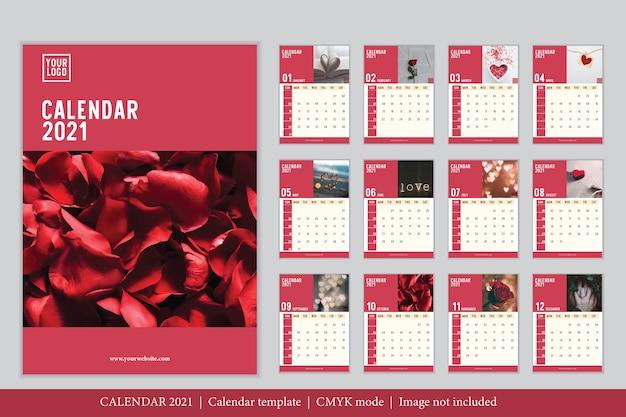 Kalendervorlage des modernen designs 2021