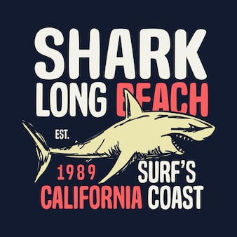 Kalifornien küste vektorgrafik t-shirt typografie