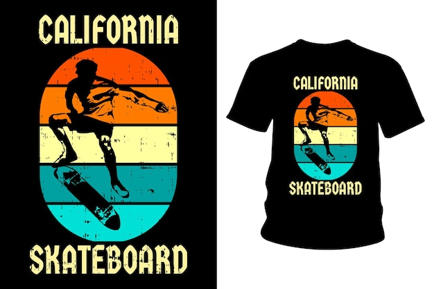 Kalifornien skateboard text t-shirt design