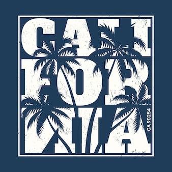 Kalifornien-t-stück druck mit palmen