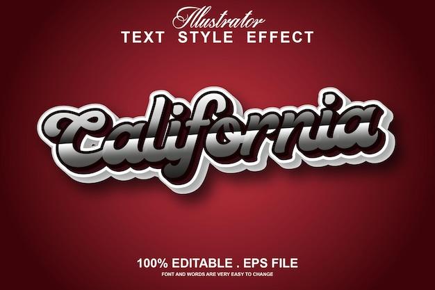 Kalifornien texteffekt editierbar Premium Vektoren