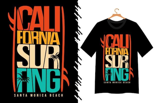 Kalifornisches surf-t-shirt-design