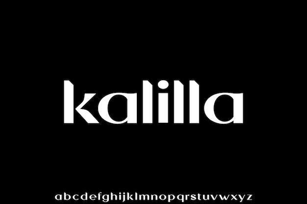 Kalilla. der luxuriöse und elegante glamourstil der schrift