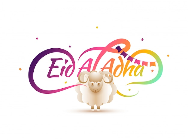 Kalligrafie des textes eid-al-adha
