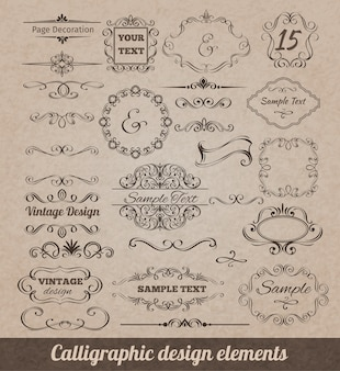 Kalligrafische Design-Elemente