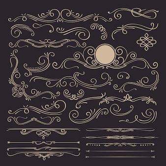 Kalligrafische elemente und seitendekoration