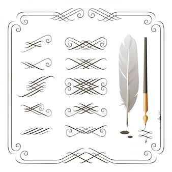 Kalligraphie-elemente
