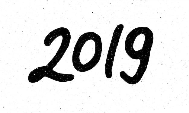 Kalligraphie für das neue jahr des schweines 2019