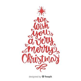 Kalligraphie schriftzug weihnachtsbaum