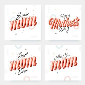 Kalligraphie von super mom, beste mutter aller zeiten