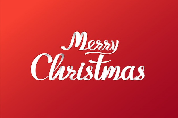 Kalligraphische briefgestaltung der frohen weihnachten. kartenvorlage