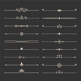 Kalligraphische dekorative teilersammlung