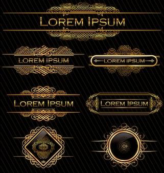 Kalligraphische designelemente