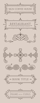 Kalligraphische elemente und rahmen