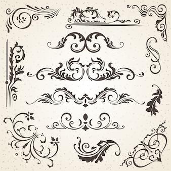 Kalligraphische elemente und seitendekoration