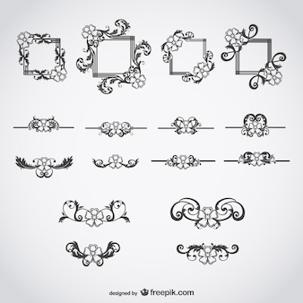 Kalligraphische elemente wirbel