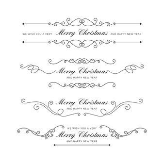 Kalligraphische frohe weihnachtsdekoration