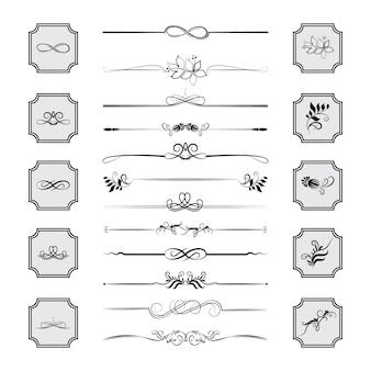 Kalligraphische gestaltungselemente.