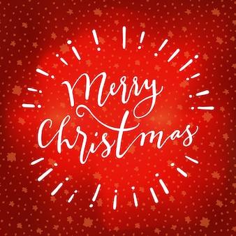 Kalligraphische grußkarte des zitats der frohen weihnachten