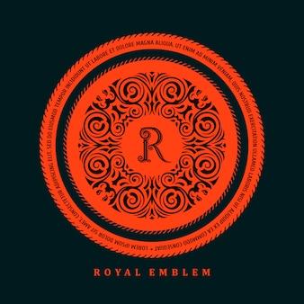 Kalligraphische logo-vorlage