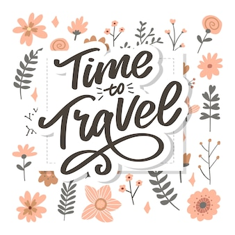 Kalligraphische schrift schrift time to travel illustration