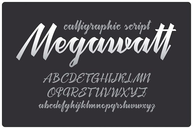 Kalligraphische skriptschrift