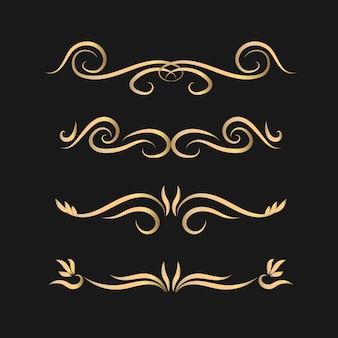 Kalligraphische teiler-set