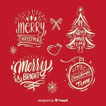 Kalligraphische weihnachtsausweissammlung