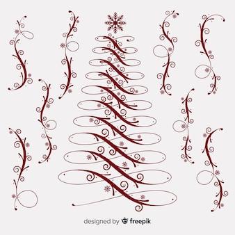 Kalligraphische weihnachtsdekoration