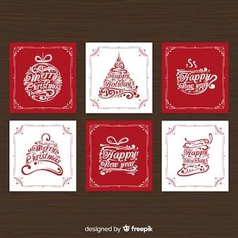 Kalligraphische Weihnachtskartensammlung