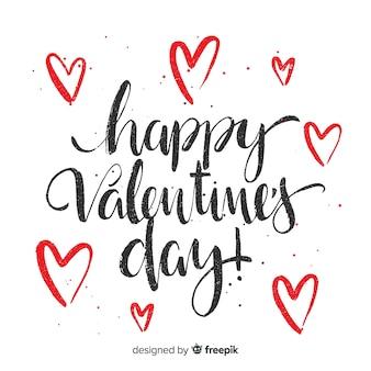 Kalligraphischer valentinsgrußhintergrund