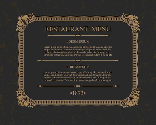 Kalligraphisches menü restaurant typografische gestaltungselemente, kalligraphische vorlage.