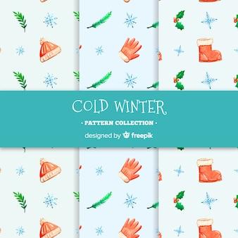 Kalte wintermuster-sammlung