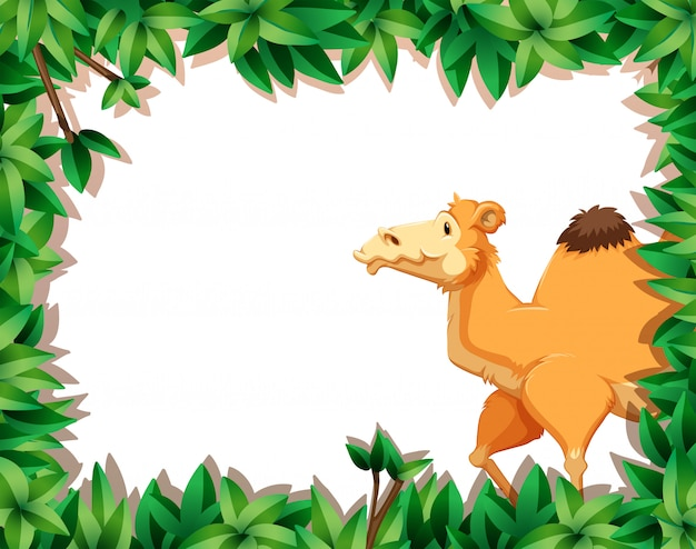 Kamel auf natur gestaltetem backgorund