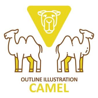 Kamel umriss stil.