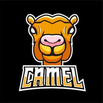 Kamelsport- und esport-gaming-maskottchenlogo