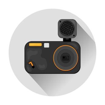 Kamera-clipart mit blitz
