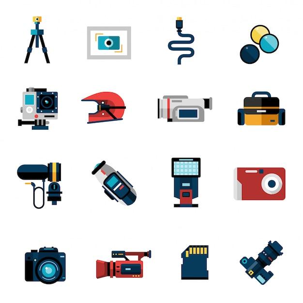 Kamera-icons set