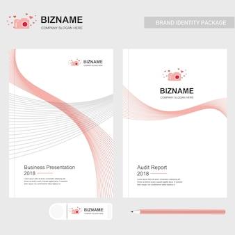 Kamera-logo und business-präsentation-design