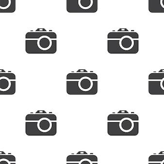 Kamera, nahtloses vektormuster, bearbeitbar kann für webseitenhintergründe verwendet werden, musterfüllungen