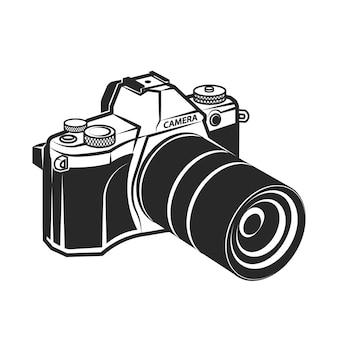 Kamera retro-stil foto-vektor-illustration