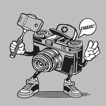 Kamera selfie character design