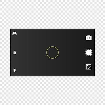 Kamerabildschirm des mobilen mobiltelefons