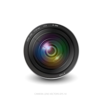 Kameraobjektivblendenöffnung isoliert.