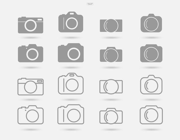 Kamerazeichen und -symbol. fotosymbol oder bildsymbol. vektor-illustration.