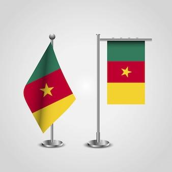 Kamerun flagge design vektor