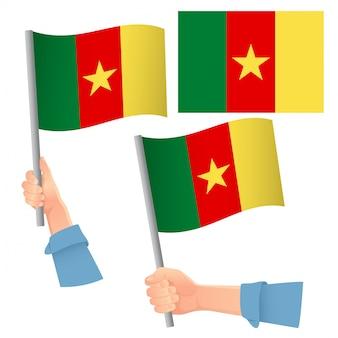 Kamerun flagge im handset