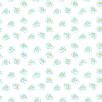 Kamille oder daisy seamless pattern